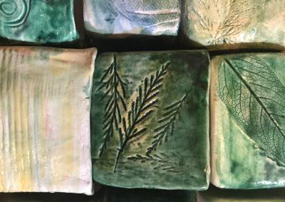 texture naturali vasetti in ceramica